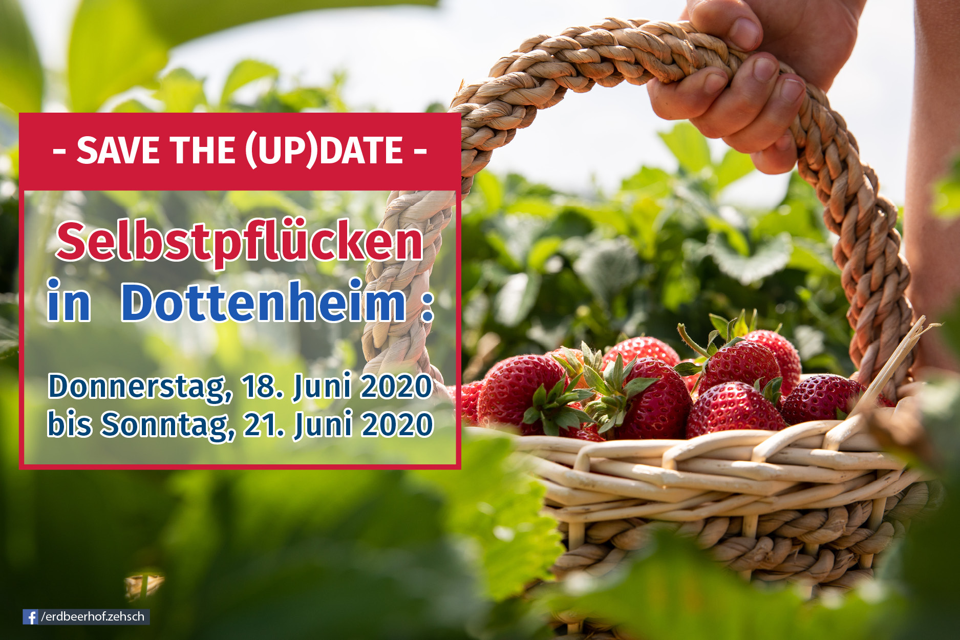 Selbstpflücke 2020: Save the (Up)Date!