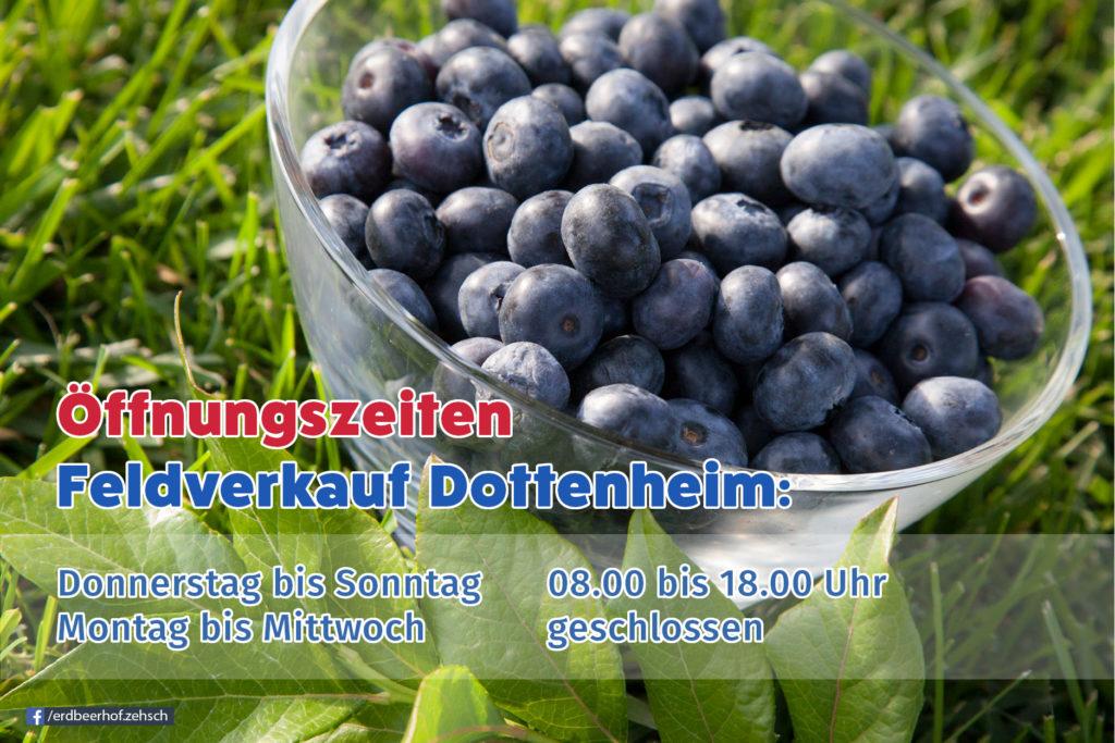 Öffnungszeiten Feldverkauf Dottenheim