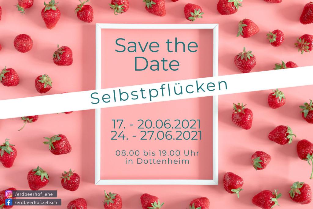 Save The Date Selbstpflücken 2021